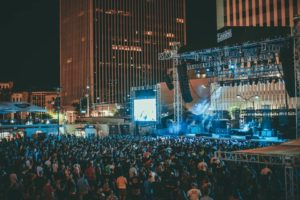 Downtown Las Vegas Events Center outside