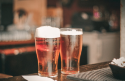 beer at a pub
